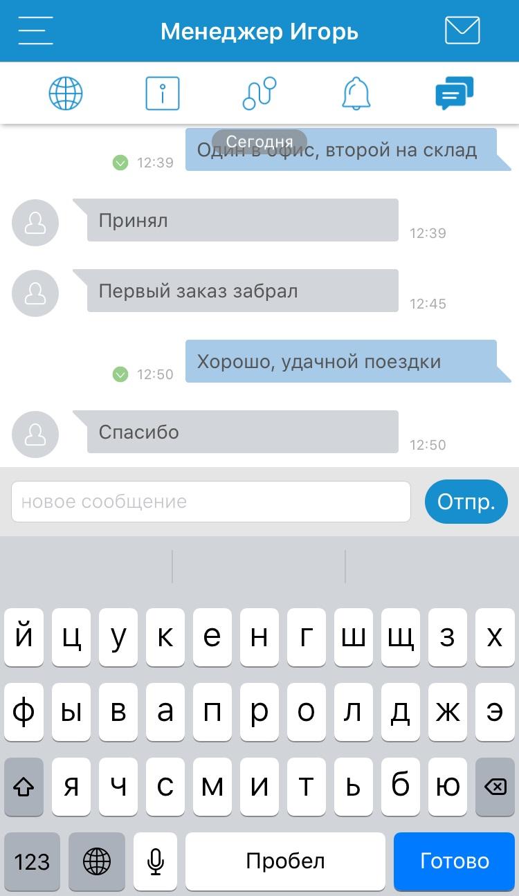 Оповещения о новых сообщениях в чате