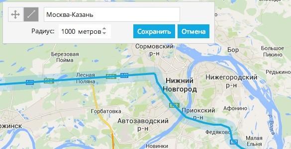 Контроль отклонения от маршрута в системе мониторинга ГДЕ МОИ