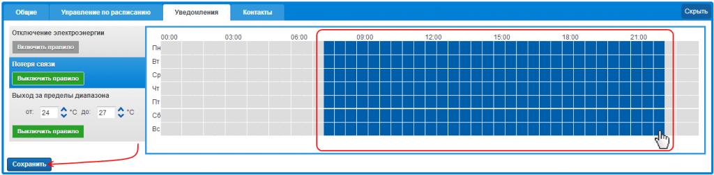 Информирование о разрыве связи с GSM-розеткой ReVizor R2