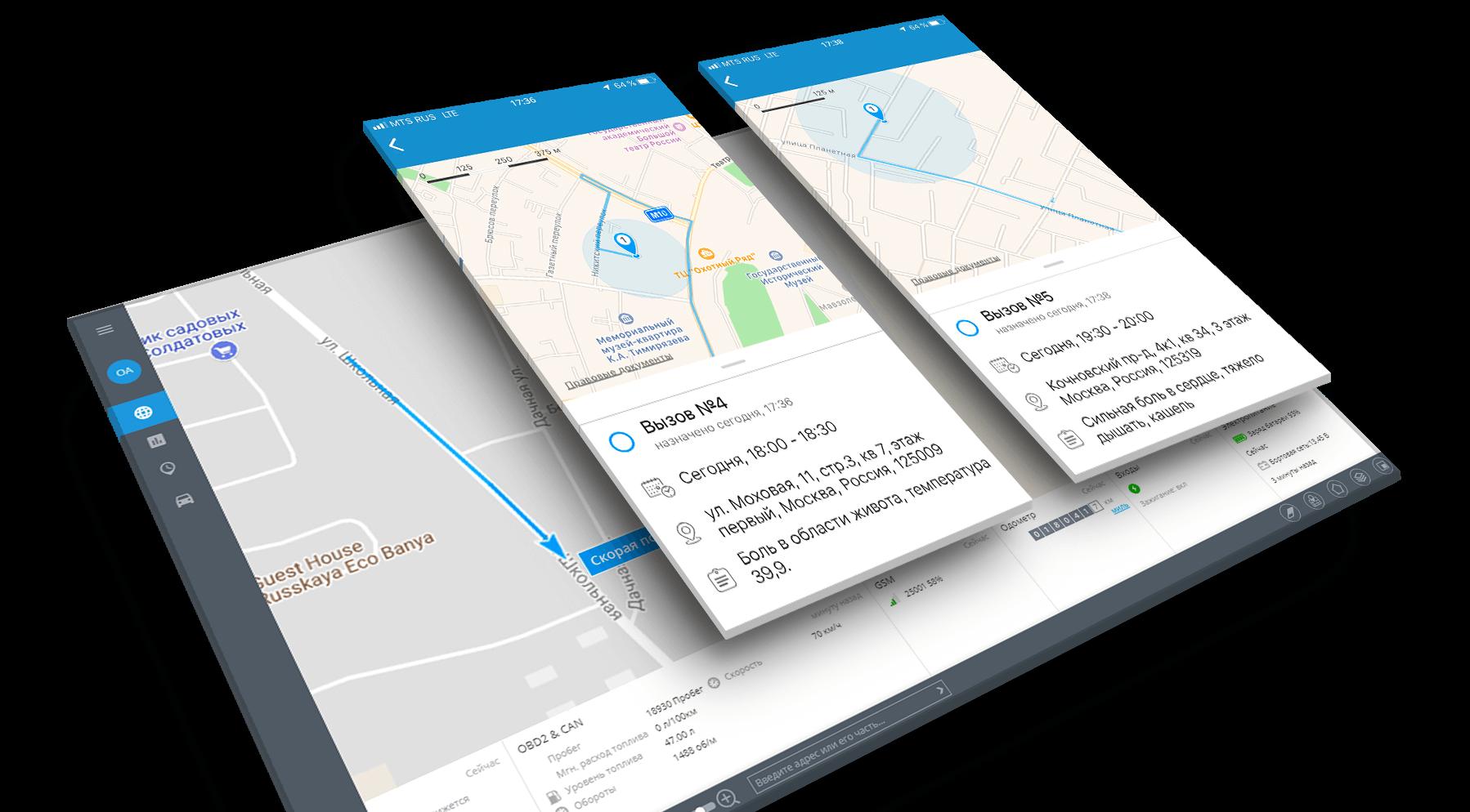 GPS-решение для выездных бригад скорой помощи и врачей